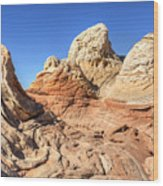 Impossible Rock Formations In The White Pocket Wood Print