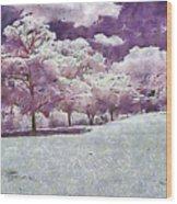 Impresionist Garden Wood Print