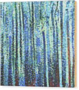 Impression Of Trees Wood Print