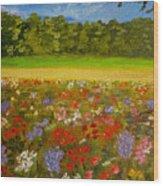 Impressionism Flowers- Pretty Posies Wood Print