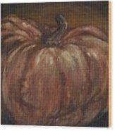 Impressionist Autumn Pumpkin Wood Print