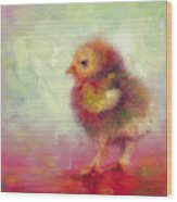Impressionist Chick Wood Print by Talya Johnson