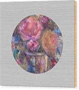 Impressionist Floral Art Wood Print