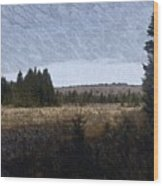 Impressionist Meadow Wood Print