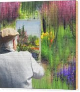 Impressionist Painter Wood Print