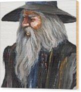 Impressionist Wizard Wood Print