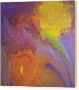 Impressionistic Flowers Wood Print