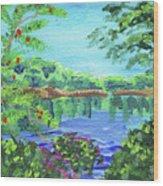 Impressionistic Landscape Xx Wood Print