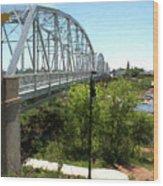 Impressionistic Llano Bridge Wood Print
