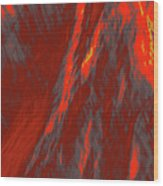 Impressions Of A Burning Forest 6 Wood Print