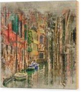 Impressions Of Venice Wood Print
