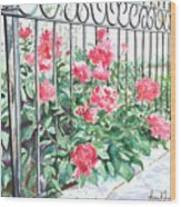 Imprisoned Peonies Wood Print