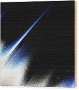In A Blue Streak Wood Print
