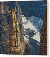 In A High Place Impasto Wood Print
