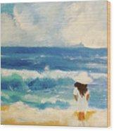 In Awe Of The Ocean Wood Print