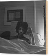 In Bed With Hendrix Wood Print