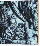 In Blue Nautilus  Wood Print