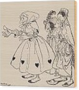 In Came The Three Women Dressed In The Wood Print