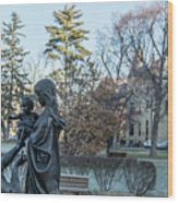 In Celebration Of Family Notre Dame 2 Wood Print