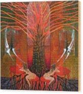 In Garden Wood Print