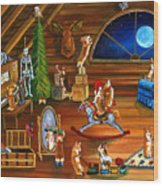 In Granny's Attic Pembroke Welsh Corgi Wood Print by Lyn Cook