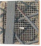 In Grates Wood Print