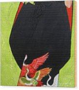 In Her Kimono Wood Print