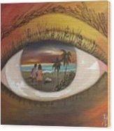 In His Eyes  Wood Print