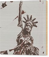 In Liberty Of New York Wood Print