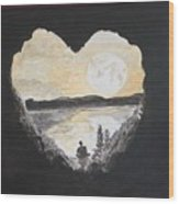 In Love With Meditation  Wood Print