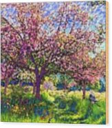 In Love With Spring, Blossom Trees Wood Print