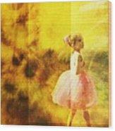 In My Pink Tutu Wood Print