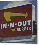 In-n-out Wood Print by Ricky Barnard