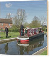 In Papercourt Lock On The Wey Navigations Wood Print