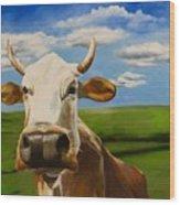 In Pasture Wood Print