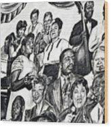 In Praise Of Jazz IIi Wood Print