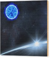 in Space Wood Print