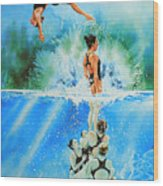 In Sync Wood Print by Hanne Lore Koehler