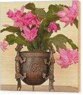 In The Antique Tibetan Dragon Pot Wood Print