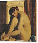 In The Bath Wood Print