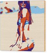 In The Beach Wood Print