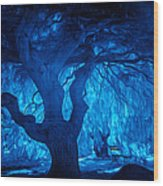 In The Blues Wood Print