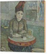 In The Cafe  Agostina Segatori In Le Tambourin Paris January  March 1887 Vincent Van Gogh 1853  Wood Print