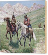 In The Cheyenne Country Wood Print