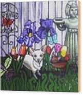 In The Chihuahua Garden Of Good And Evil Wood Print by Genevieve Esson
