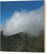 In The Clouds Wood Print
