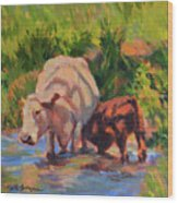 In The Creek Wood Print
