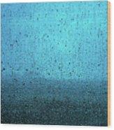 In The Dark Blue Rain Wood Print