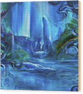 In The Eyes Of Aurora Wood Print