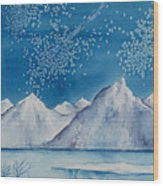 In The Far North Wood Print